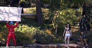 Kristen Stewart and Juliette Binoche strip off in lake on