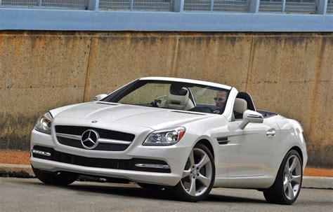 2012 White Mercedes Benz Slk350 3q Front