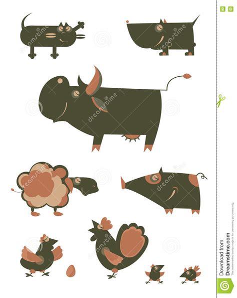 Bugs team 2 unit 2 extra worksheet grade/level: Cartoon funny farm animals stock vector. Illustration of ...