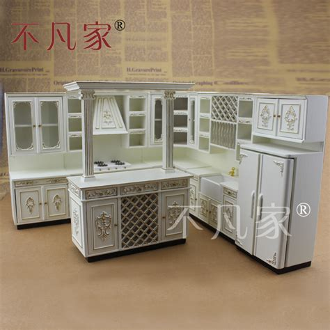 miniature kitchen set dollhouse furniture