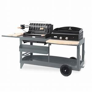 Barbecue Gaz Et Charbon : plancha gaz barbecue le marquier mendy alde ardoise ~ Dailycaller-alerts.com Idées de Décoration