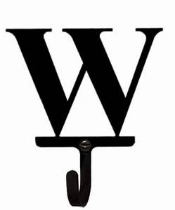 letter w wall hook small With wrought iron letters for wall
