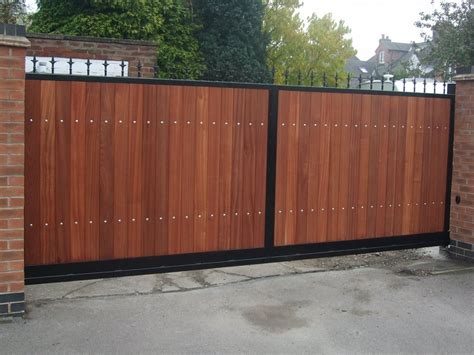 wood and metal gates metal and wood combined gates