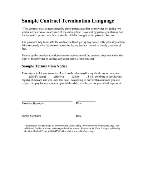 termination notice template best photos of notice format sle notice format sle closure notice sle and