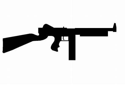 Gun Thompson Machine Shooting Clipart Submachine Sub