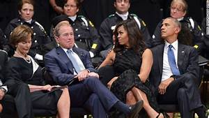 George W. Bush and Barack Obama speak at Dallas Shooting ...