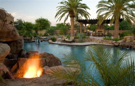 tropical backyards add tropical charm to your backyard by opting for palm trees