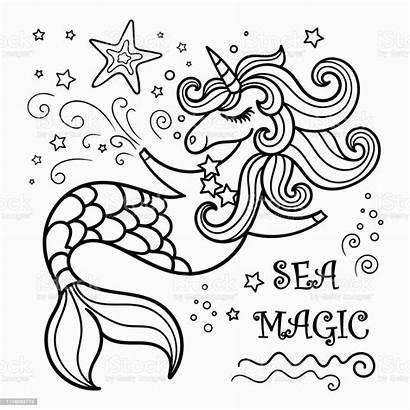 Unicorn Mermaid Coloring Sirena Colorare Unicornio Unicorno