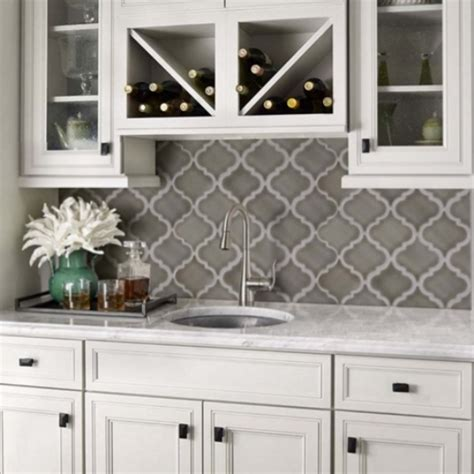 arabesque tile backsplash mosaic monday creating a unique wall or backsplash with
