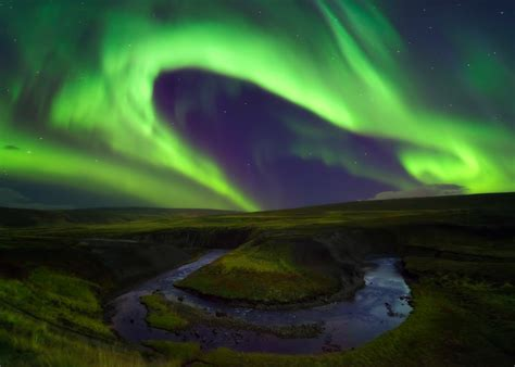 northern lights electric interesting photo of the day electric green