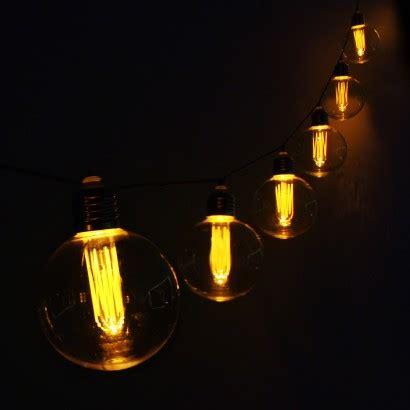retro large bulb warm white string lights