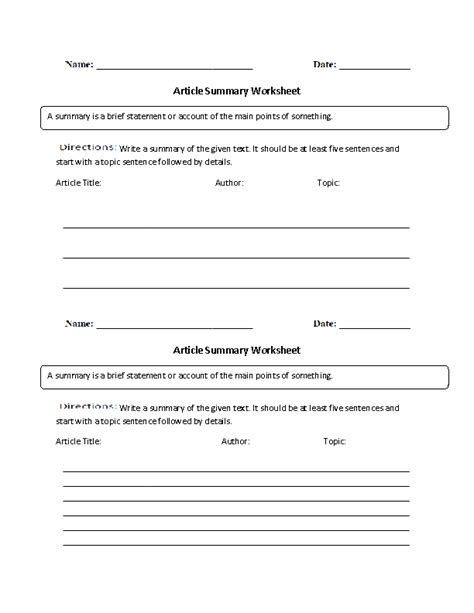 writing summary worksheet worksheets for all