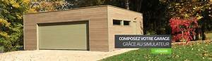 garage ossature bois sur mesure de qualite garage bois With prix construction garage 25m2