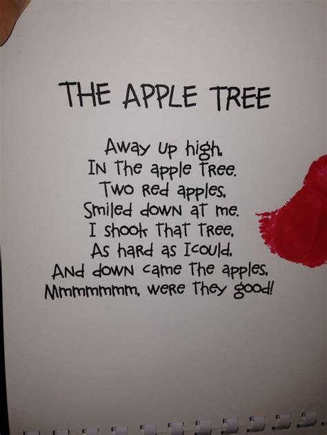 apple poem apple preschool preschool apple theme