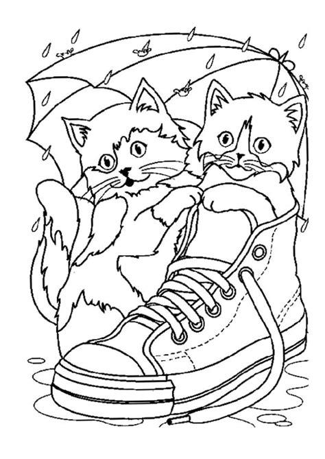 Coloriage Chats Chaussure Sur Hugolescargotcom