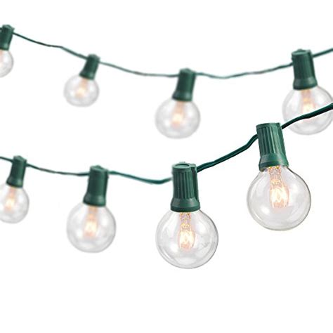 globe string lights with 25 g40 bulbs taotronics