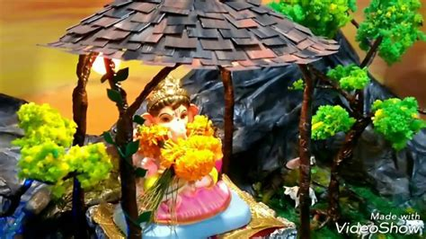 eco friendly decorations  ganpati festival
