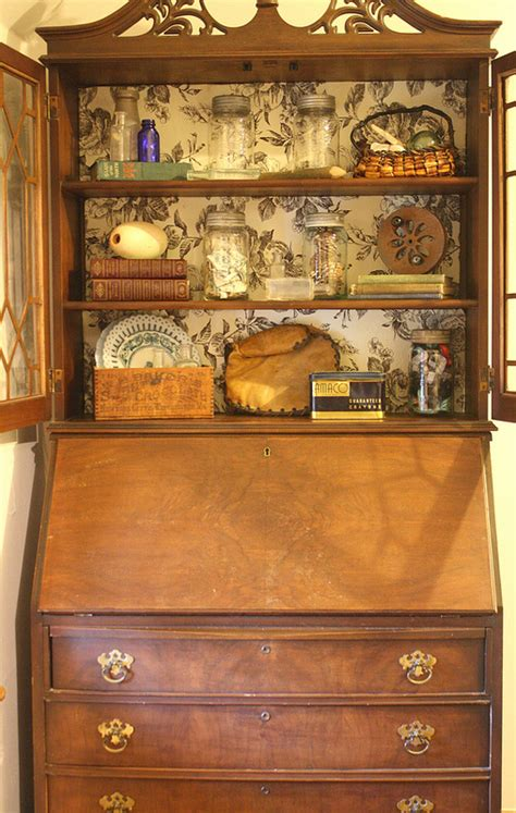 hometalk freebie vintage secretary desk  hutch