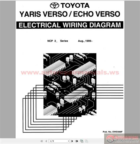 toyota yaris 2012 electrical wiring diagram toyota yaris echo verso 1999 electrical wiring diagram auto repair manual heavy