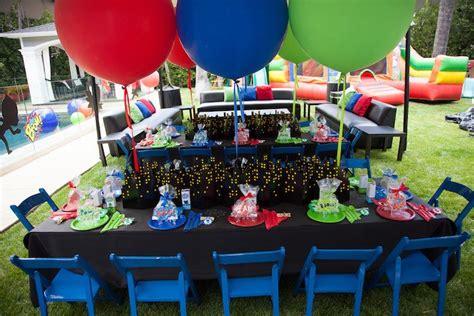 karas party ideas pj masks superhero birthday party