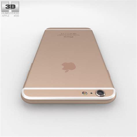 gold iphone 6 plus apple iphone 6 plus gold 3d model hum3d