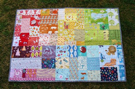 baby quilts for fabric mutt rainbow patch baby quilt