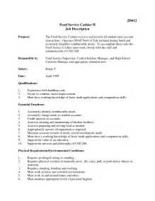 cashier duties resume exles 12 cashier description for resume recentresumes