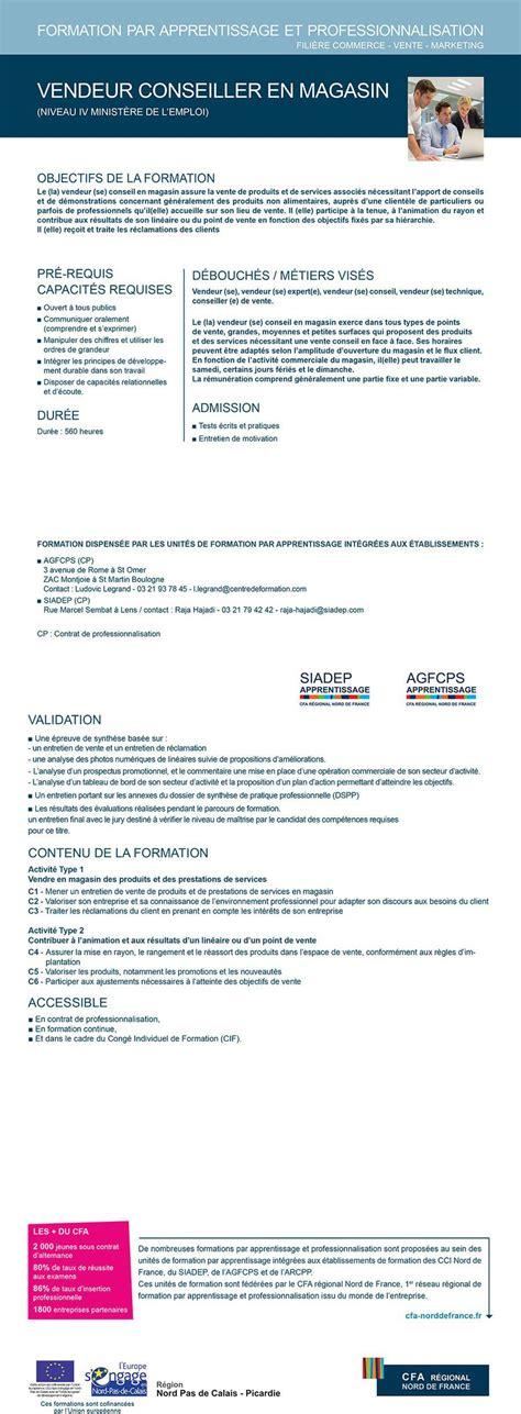 contrat de professionnalisation cuisine offre bac pro vente conseiller en magasin contrat de professionnalisation cfa regional
