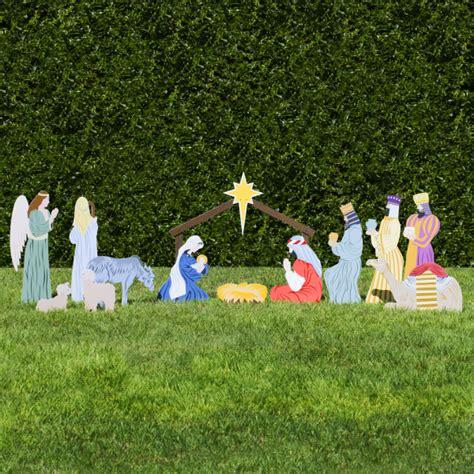 wooden outside nativity set outdoor nativity set outdoor