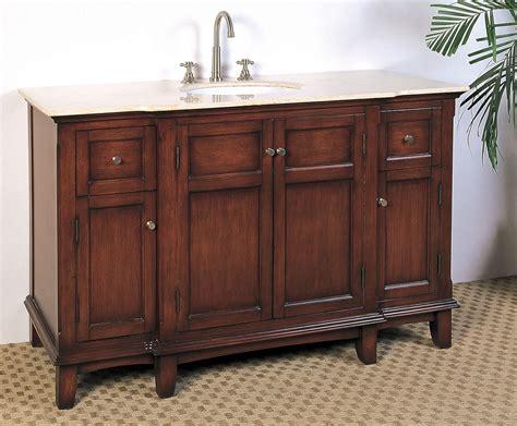 53 Inch Single Sink Bathroom Vanity In Bathroom Vanities