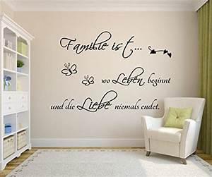 Wandbilder Zum Kleben : wandtattoo familie family spr che ~ Lizthompson.info Haus und Dekorationen
