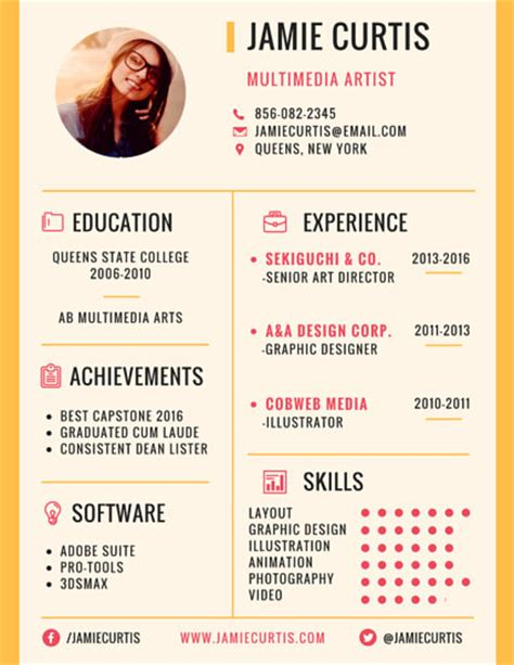 Artistic Resumesartistic Resumes by Prominent Business Manager Resume Templates By Canva