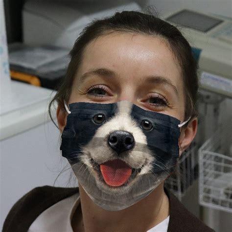 Border Collie dog Face Mask