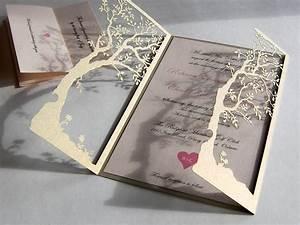 love tree custom laser cut wedding invitations and reply With cricut tree wedding invitations