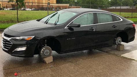 Tires stolen from flooded vehicles abandoned during ...