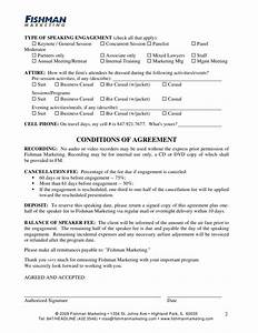 marketing agreement social media marketing agreement form With invoice for speaking engagement