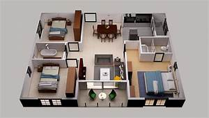 3d Floor Plan Design For Small Area