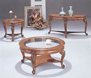 light cherry round stylish coffee table with glass inlays With light cherry coffee table