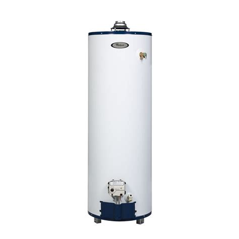 water heater shop whirlpool 6th sense 40 gallon 6 year tall gas water heater natural gas at lowes com