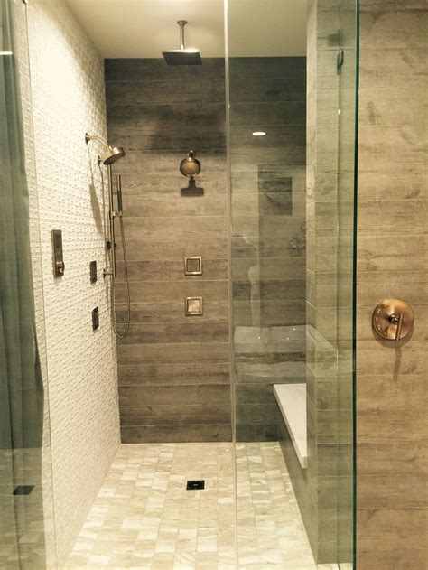 master bathroom shower tile ideas wood floors vs wood look tile flooring which is