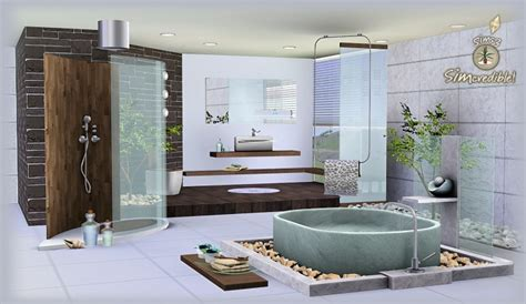 sims  blog natural camouflage bathroom set  simcredible designs