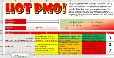 initial risk assessment template