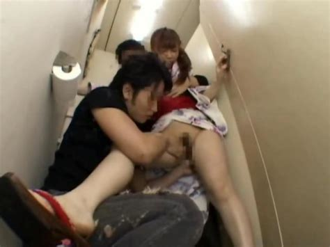 Japanese Teen Gets Groped And Fucked In A Public Restroom