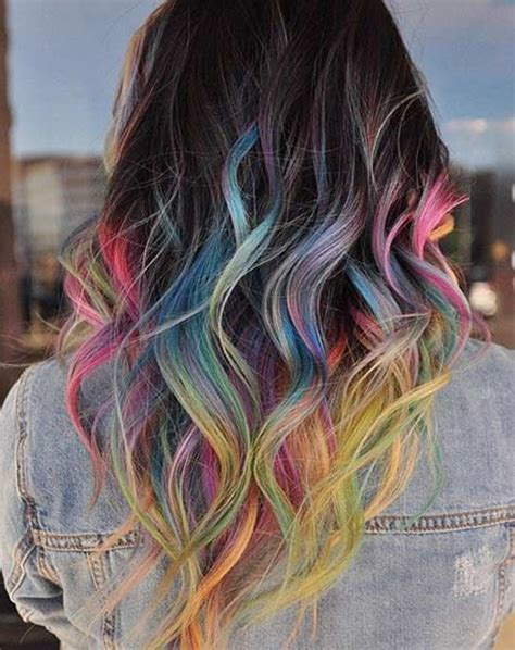 ideas  colored hair tips  pinterest