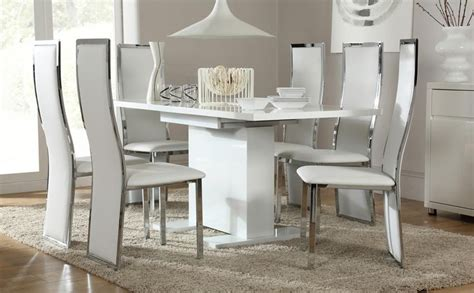 ideas  white high gloss dining tables dining room ideas