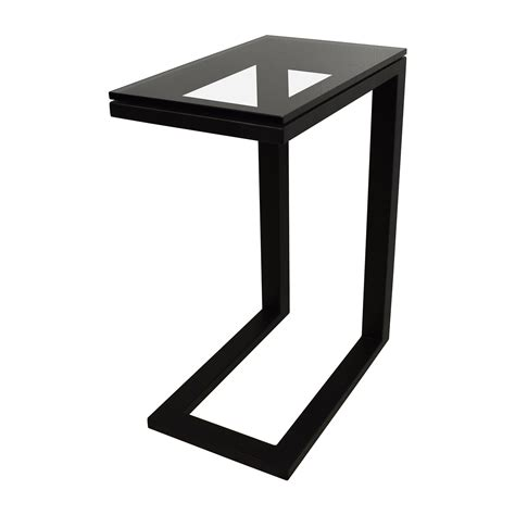black table base for glass top 51 off crate and barrel crate barrel parsons glass