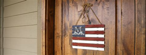 monogram paint stick flag diy rustic craftcuts