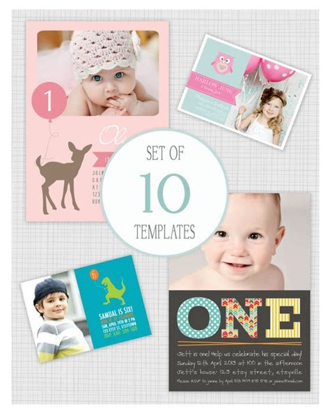 40th Birthday Ideas: 1st Birthday Invitation Templates