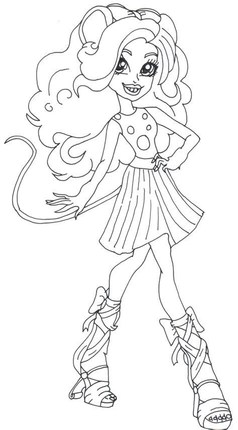 printable monster high coloring pages mouscedes king monster high coloring page