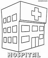 Hospital Coloring Printable Pages Print Sheets Building Colorings sketch template